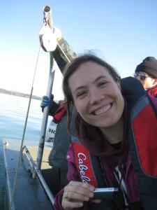 Julie on a Boat